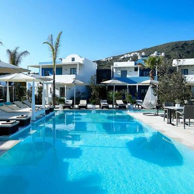 The location. Aurora Luxury Hotel   Pori beach  Imerovigli Santorini   Greece